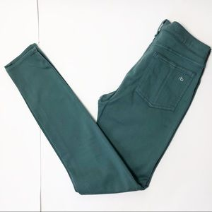 Rag & Bone Skinny Jean leggings stretch green 28